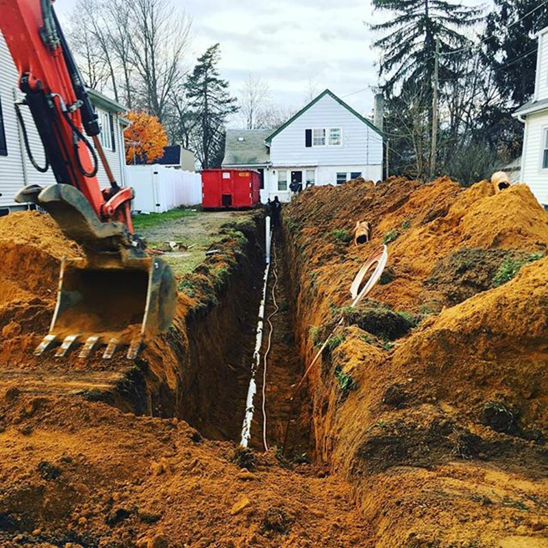 repair replace underground sewer or water pipe excavations