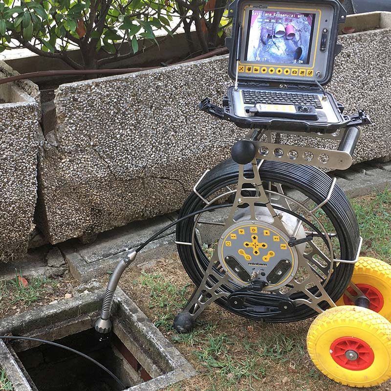 tv video camera inspections of underground pipes, sewer and septic systems