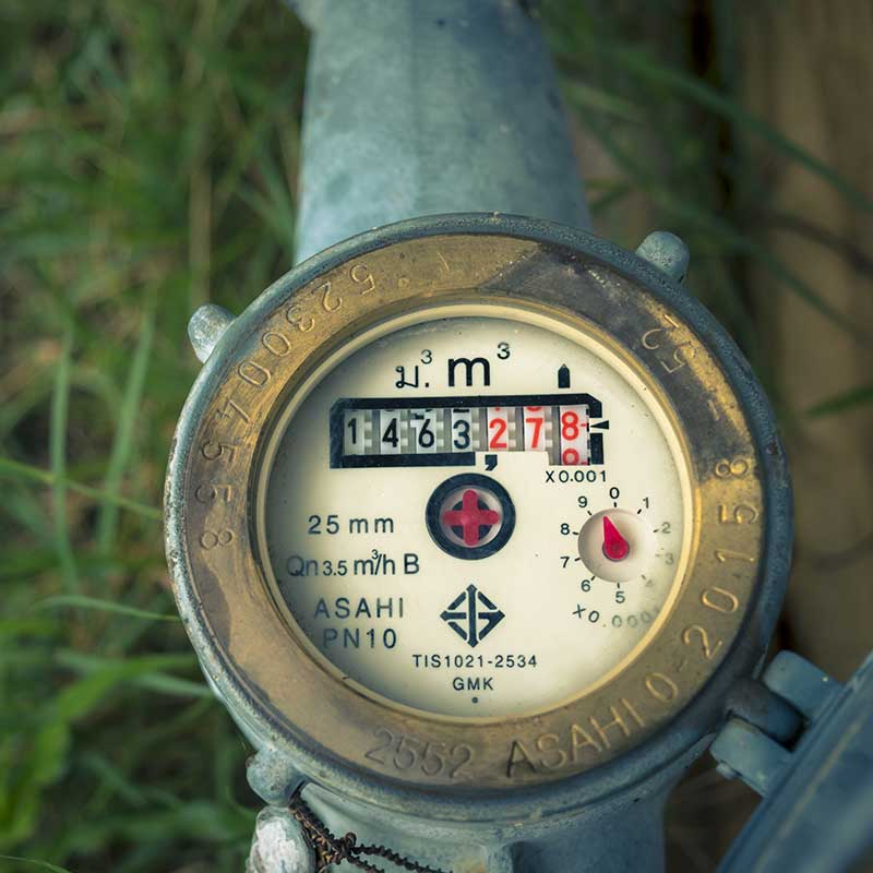 irrigation water meter installation